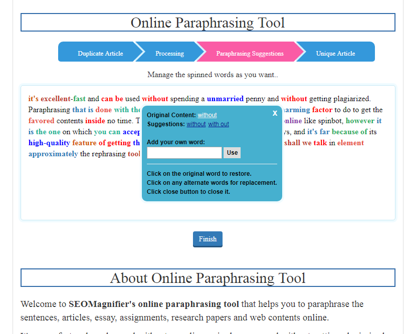 using-seomagnifier-paraphrasing