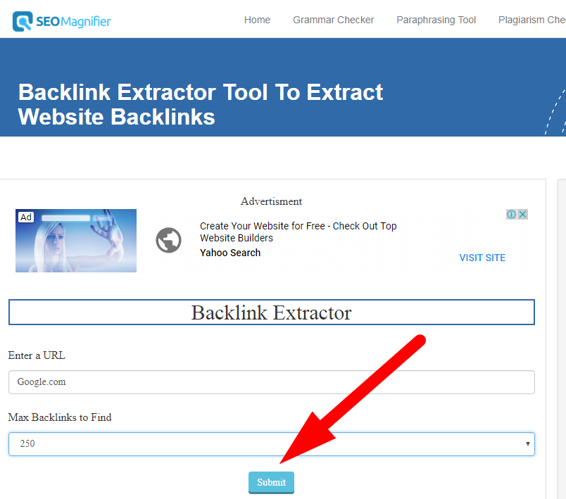 backlink extractor tool