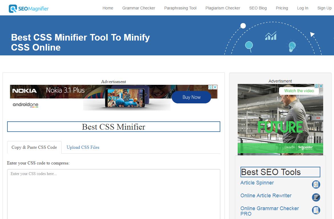Best CSS Minifier - Minify CSS Online | SEOMagnifier
