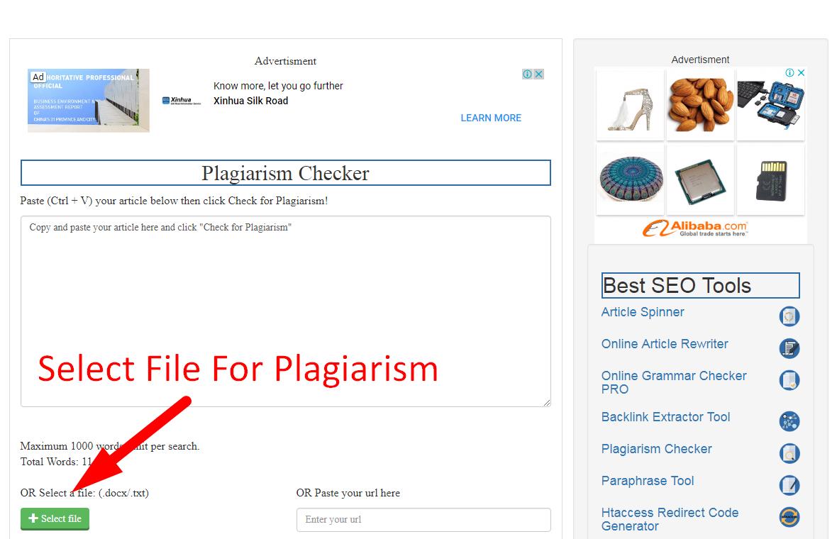 Check plagiarism online