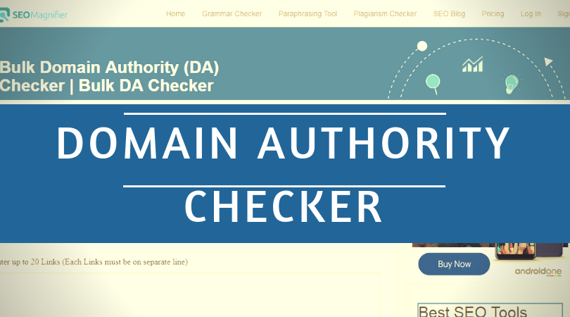 Domain Authority Checker Tool