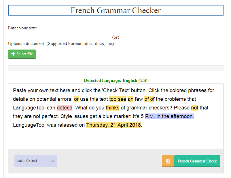 French Grammar Checker Best  Grammar Checker For French  Seomagnifier Grammar Checker For French Apa Style Essay Paper also Phd In Writing Online  Writing Companies Nyc