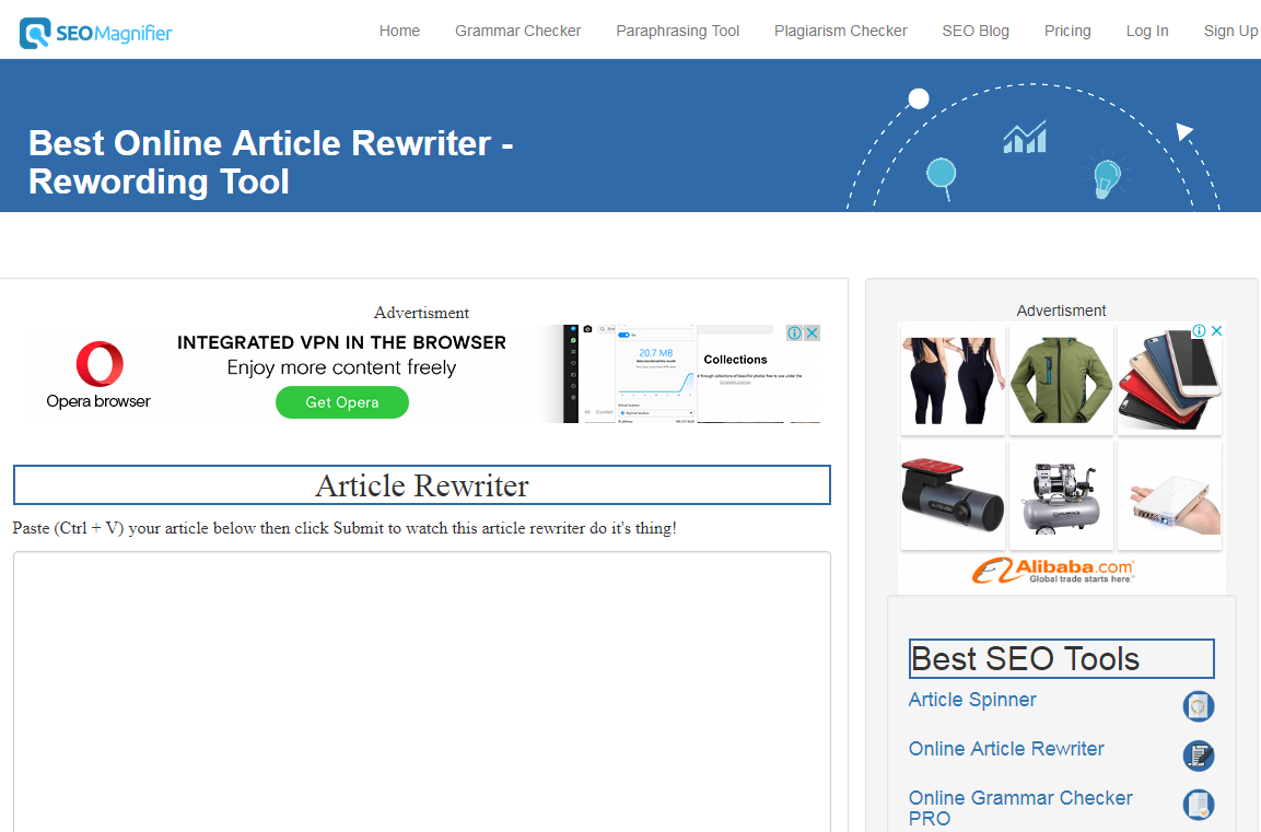 how to use article rewriter