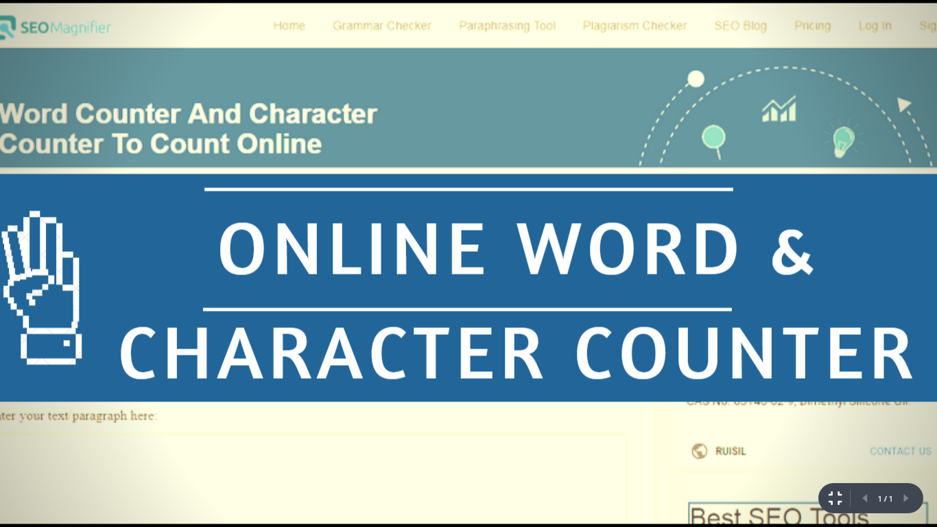 Online Word And Character Counter