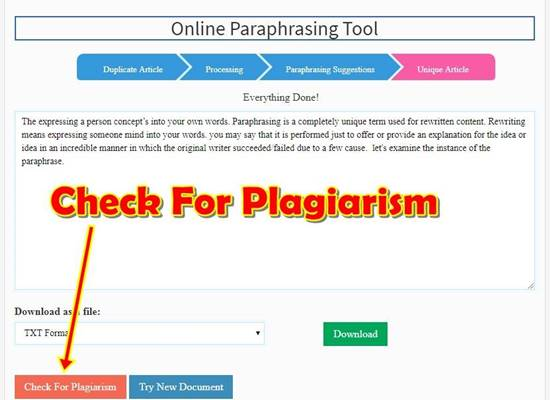 seomagnifier paraphrasing tool using for plagiarism