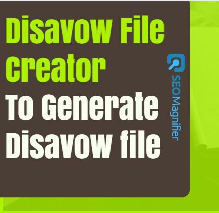 Disavow File Creator