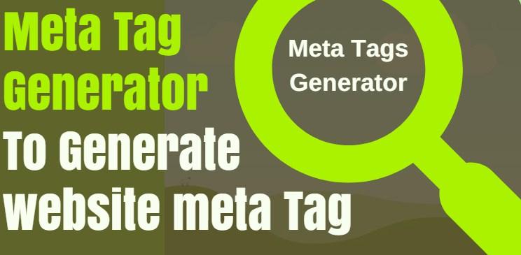 SEO Meta Tag Generator