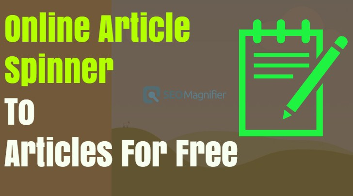 Online Article Spinner