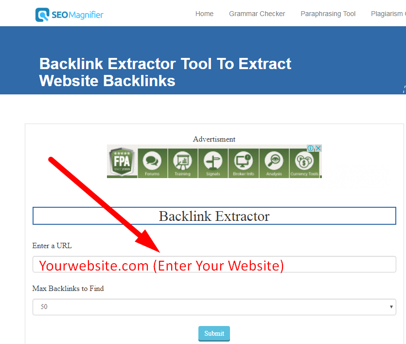 Using Backlink Extractor Tool