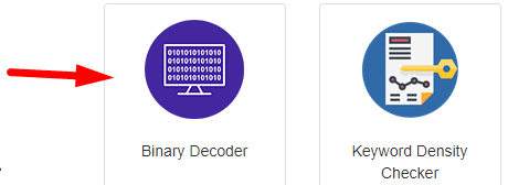 How to decode binary to text online step 1