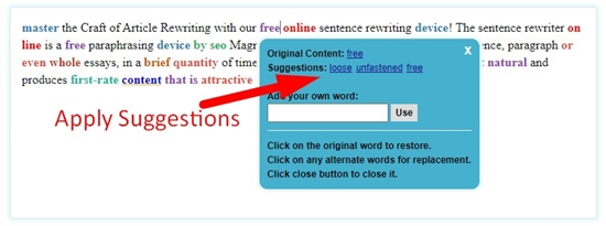 How to rewrite sentence online step 6