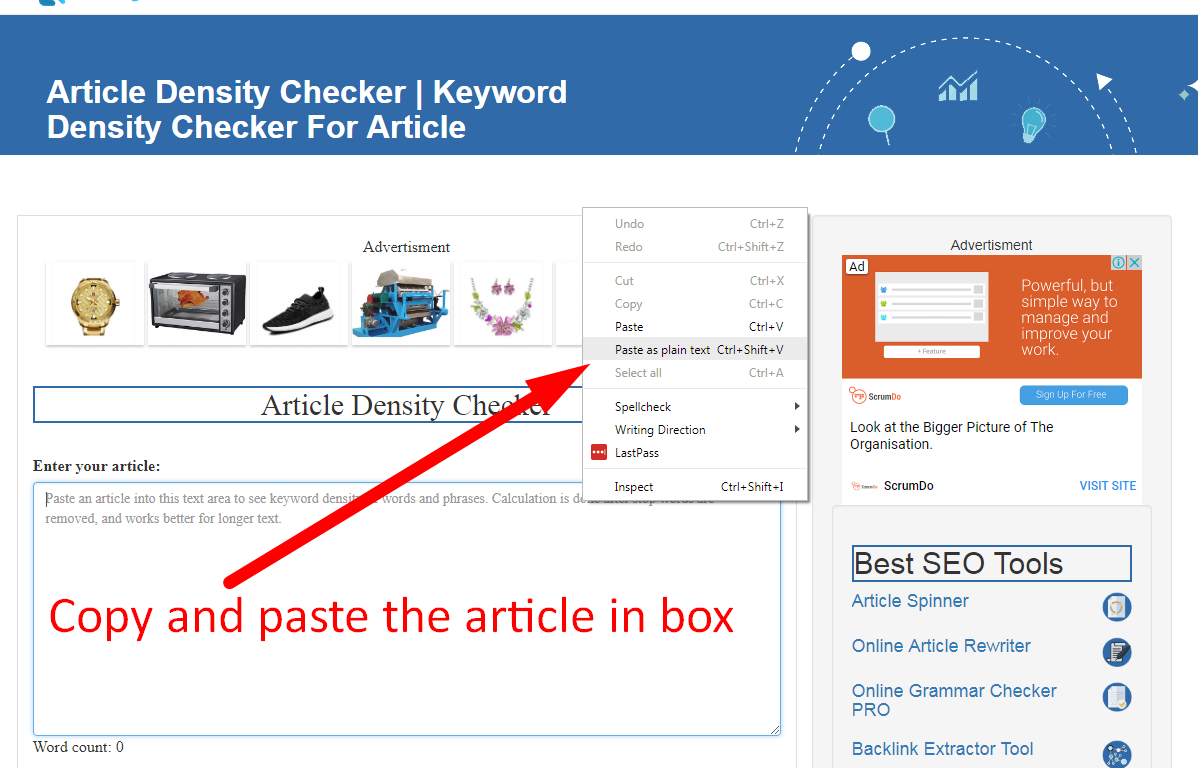 article keyword density checker
