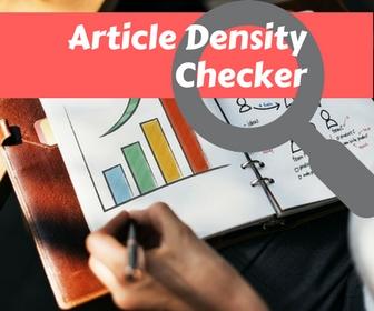 Article Density Checker