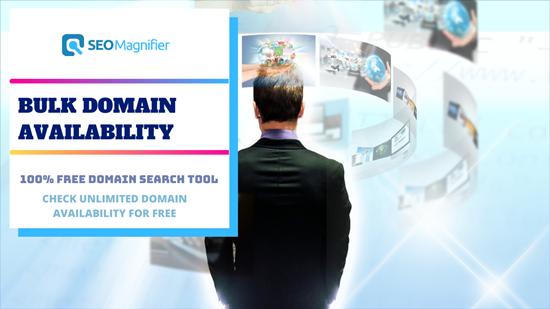 Bulk Domain Availability checker by SEO Magnifier