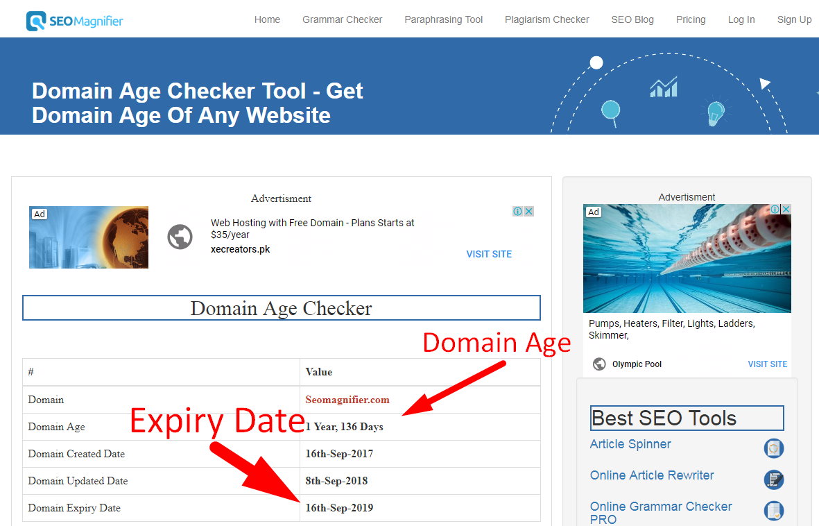 how to check age of any website step 4