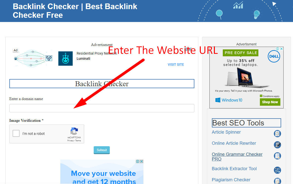 how to check backlinks of a website step 2