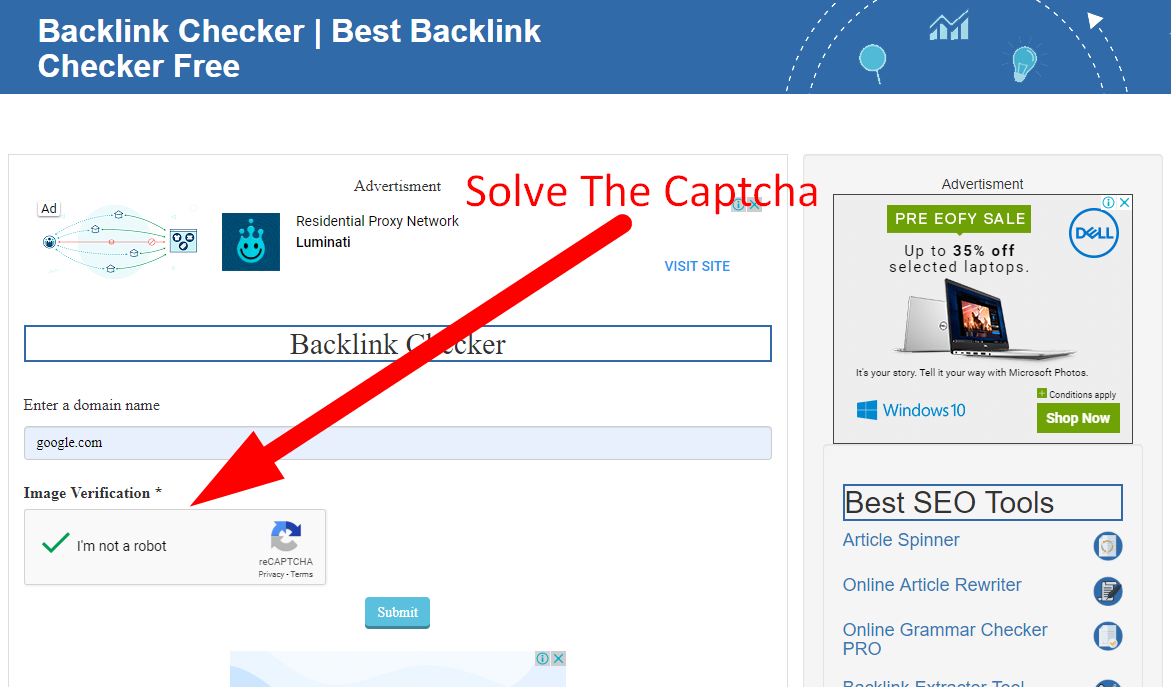 how to check backlinks of a website step 3