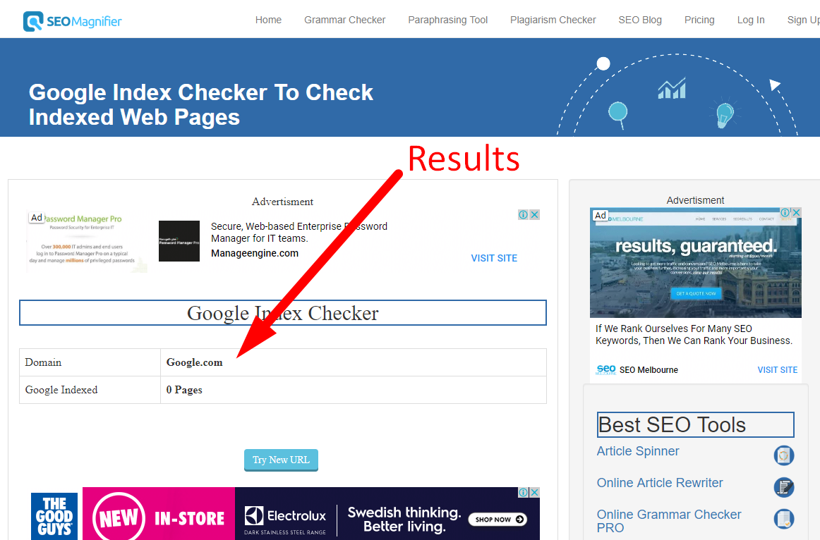 how to check google index pages step 4