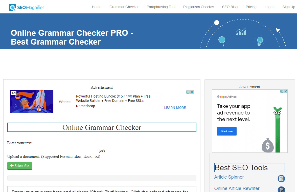 How to check grammar online step 1