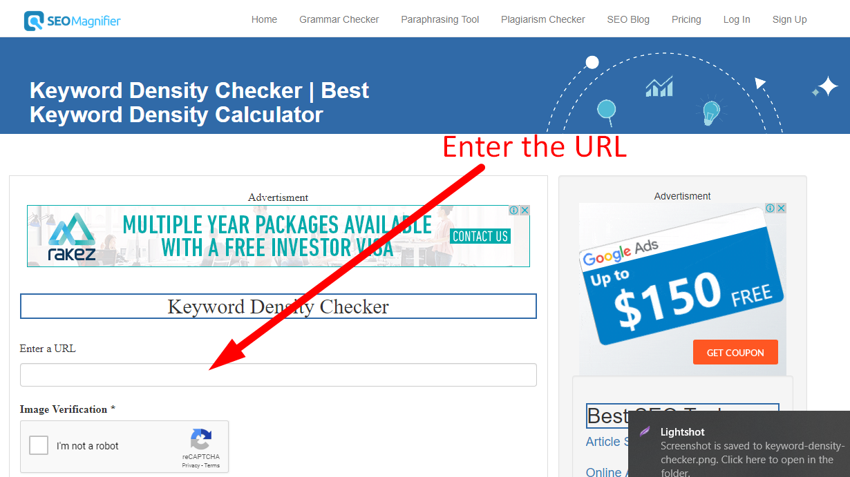 How to check keyword density step 1