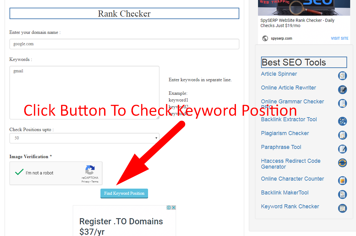 how to check keyword rank on google step 5
