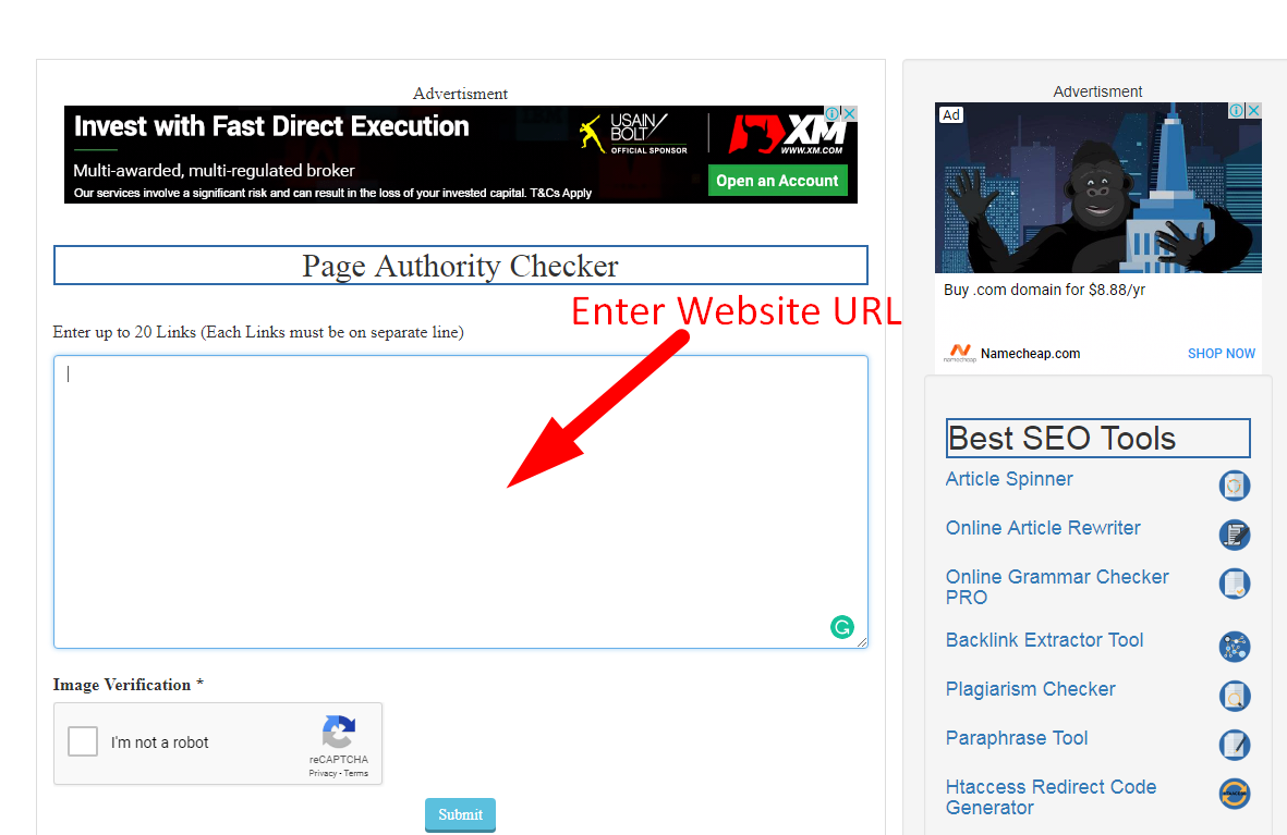 how to check page authority step 1