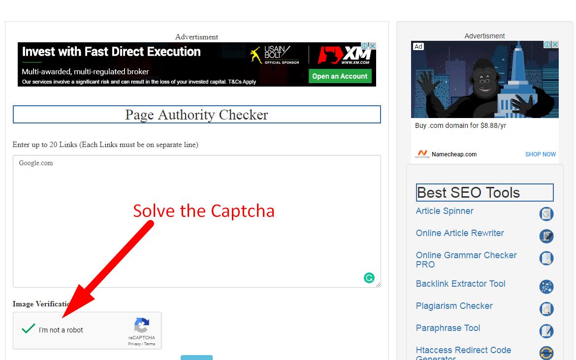 how to check page authority step 2