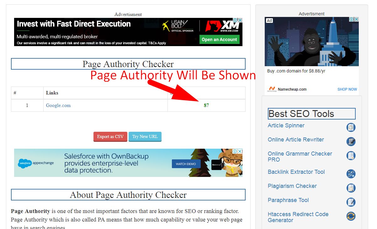 how to check page authority step 4