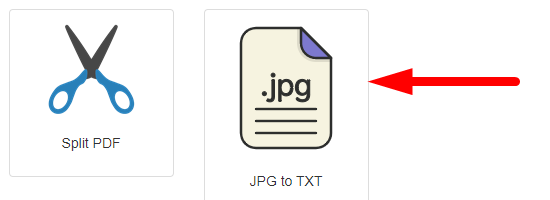 how to convert image to text online step 1