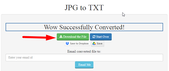 How to convert image to text online step 4