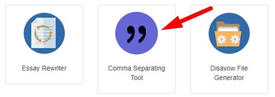 how to convert list to comma separated online step 1