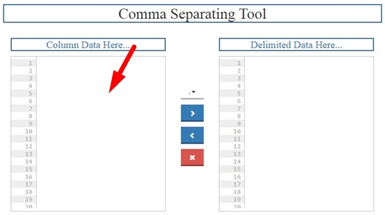 how to convert list to comma separated online step 2