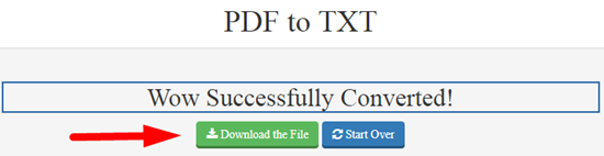 How to convert pdf to txt file online step 4