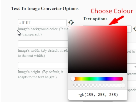 How to convert text to image online step 3