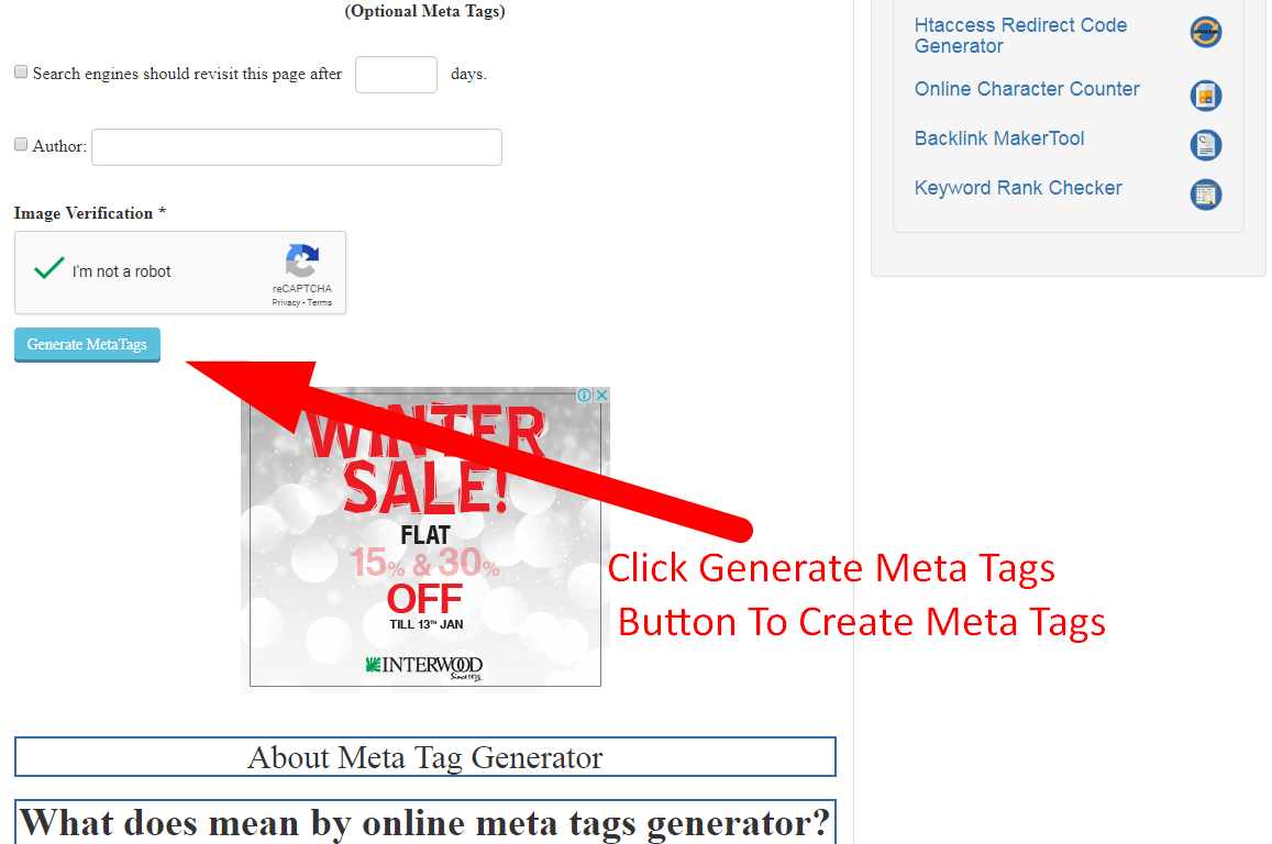 how to create meta tags for blogger