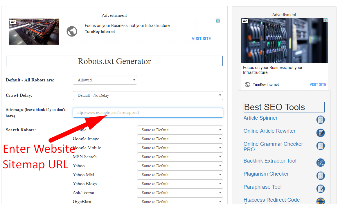how to create robots.txt file step 3