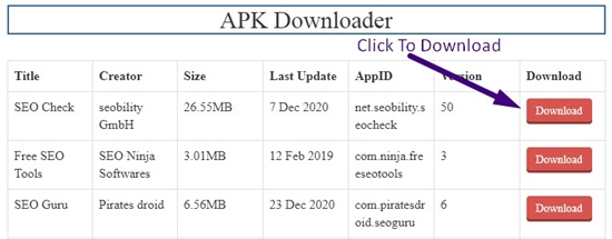 how to download apk online without registration step 5