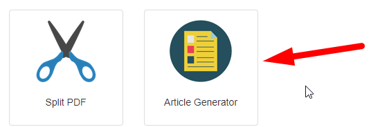 How to generate article online for free step 1