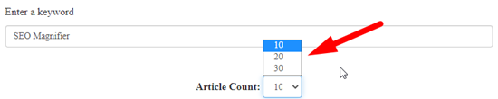 How to generate article online for free step 3