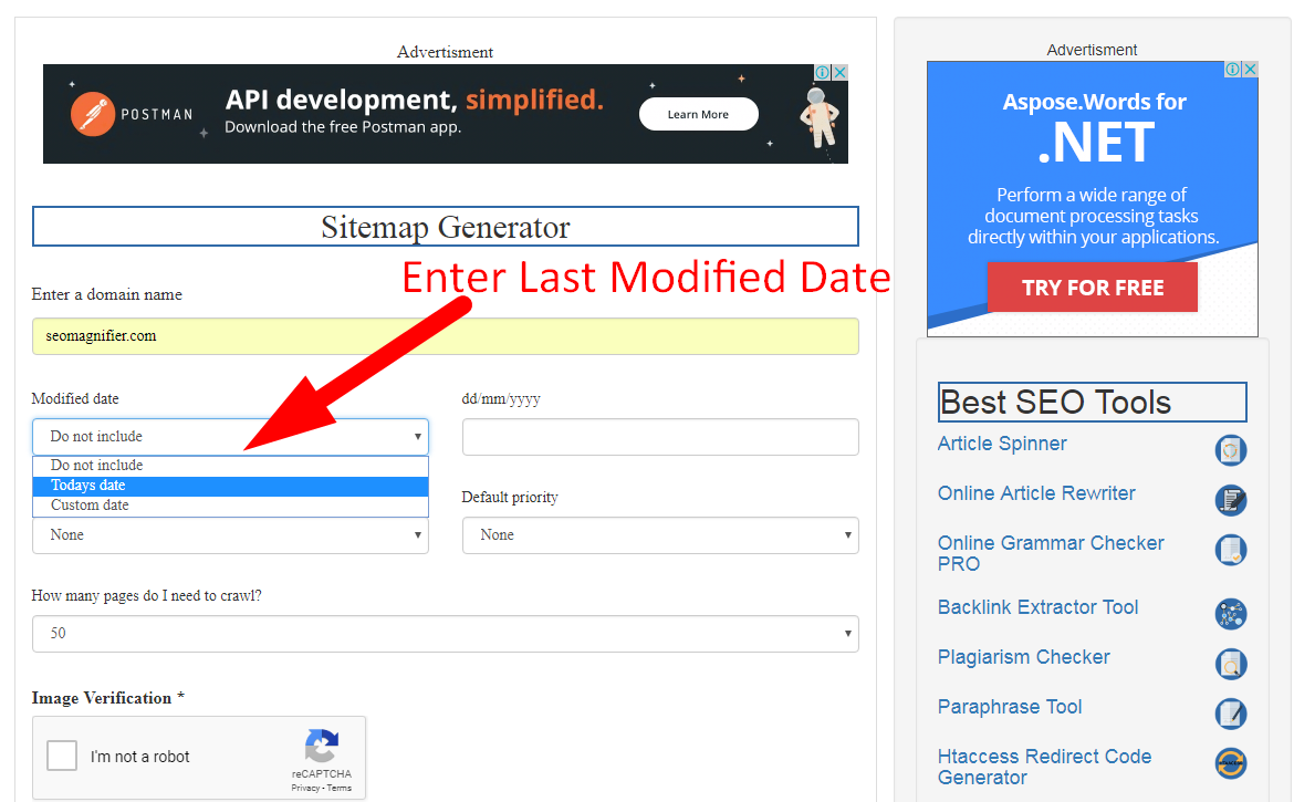 how to generate xml sitemap step 2
