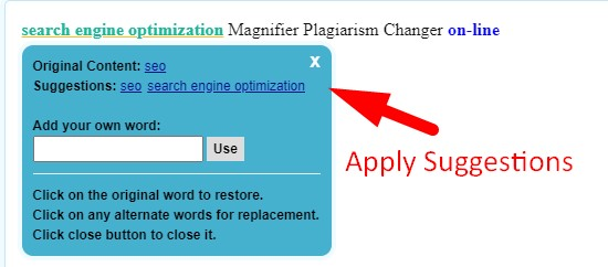 How to remove plagiarism online step 5