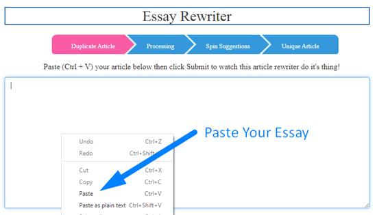 how to rewrite essay online step 1