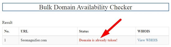 How to search bulk domains step 4