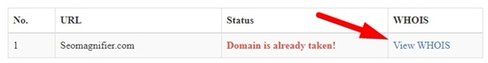 How to search bulk domains step 5
