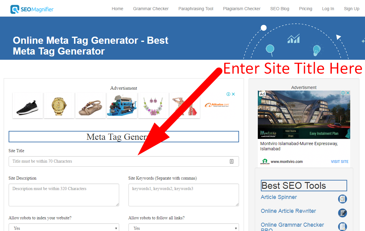 meta tag generator for seo