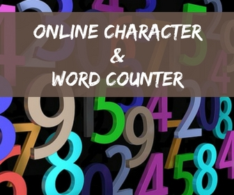 online character and word counter