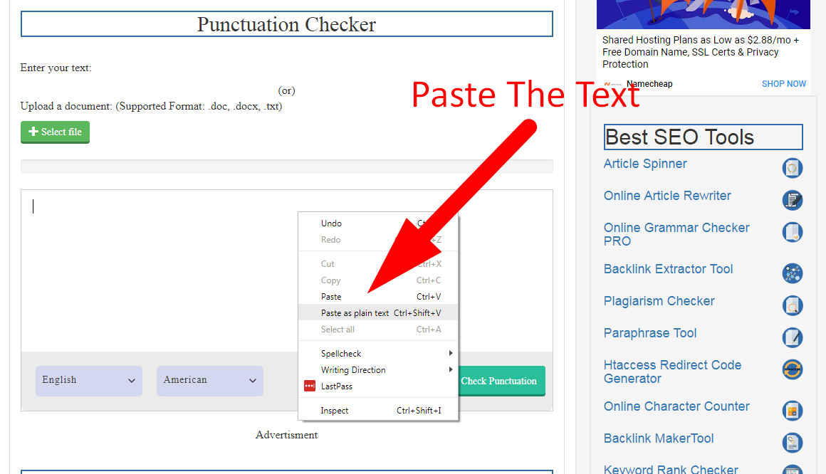 punctuation checker free online using