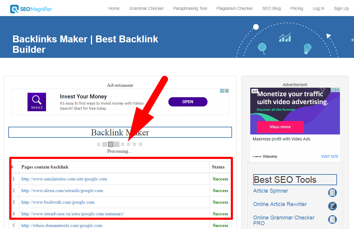 seo magnifier best backlinks maker tool using