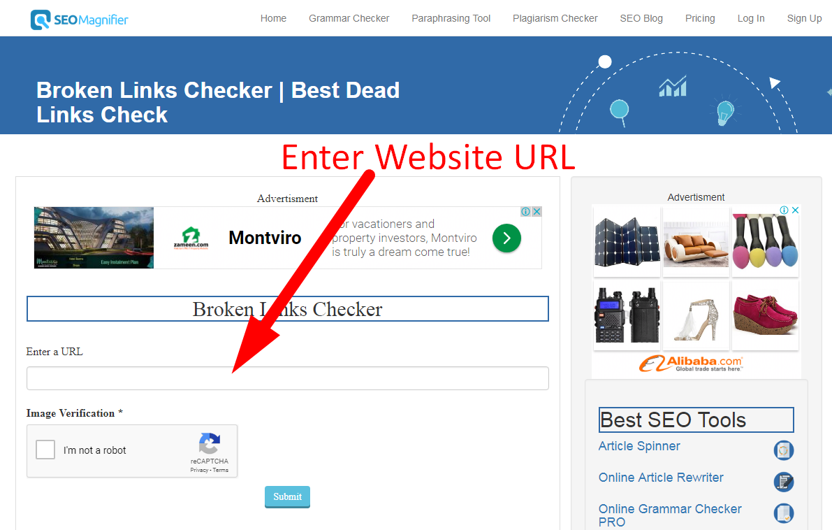 using backlink checker tool